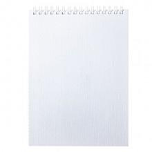 """Блокнот """"Hatber"""", 80л, А5, клетка, обложка бумвинил, на гребне, серия """"Metallic - Белый"""""""