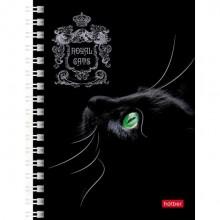 """Записная книжка """"Hatber"""", 80л, А6, клетка, на гребне, серия """"Royal Cats"""""""