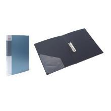 Папка пластик. Berlingo с метал. зажимом, корешок 21мм, зеленый металлик