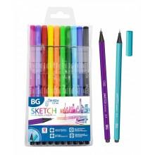 """Набор линеров """"BG Sketch"""", 0,4мм, 12 цветов, шестригранный цветной корпус, 12шт в упаковке"""