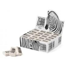 """Ластик из натурального каучука """"Hatber Zebra"""", 26х18х8мм, прямоугольный, белый"""