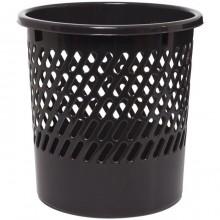 """Корзина пластиковая для бумаг """"OfficeClean"""", 11л, сетчатая, чёрная"""