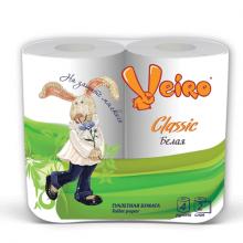 """Туалетная бумага """"Linia Veiro Classic"""", 2 слоя, белая, упакованы по 4 рулона"""