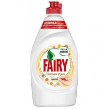 """Жидкое средство для мытья посуды """"Fairy"""", Нежные ручки, с витамином Е и экстрактом ромашки, 450мл."""