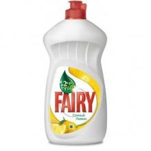 """Жидкое средство для мытья посуды """"Fairy"""", Сочный Лимон, 450мл."""
