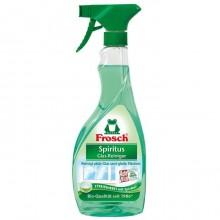 """Средство для мытья стекла и гладких поверхностей """"Frosch"""" со спиртом, распылитель, 500мл."""