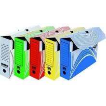 """Короб картонный архивный """"Kris"""" АС-4, 75мм, 325х260х75мм, белый"""