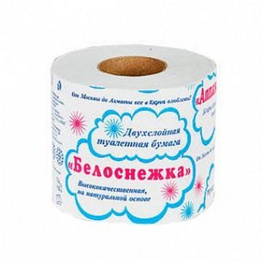 Туалетная бумага Белоснежка  2-х слойная