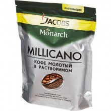 Кофе растворимый Jacobs Monarch Millicano 130 г (пакет)