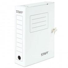"""Папка картонная архивная на завязках """"Staff"""", 325х250x75мм, 700л, белая"""