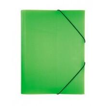 """Папка пластиковая """"Hatber HD"""", А4, 500мкм, с клапанами, на резинке, серия """"Diamond Neon - Зелёная"""""""