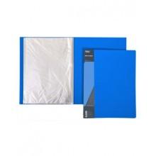 """Папка пластиковая """"Hatber"""", А4, 600мкм, 10 вкладышей, 9мм, серия """"Standard - Синяя"""""""