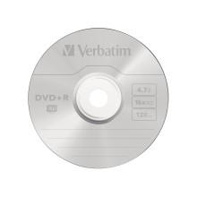 Диск DVD+R, Verbatim, (43498) 4.7GB, 16х, 10шт в упаковке, Незаписанный