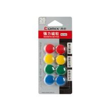 Блистер магнитов, Comix, B2382, для магнитно-маркерной доски, 20 мм., 8 шт., в ассортименте