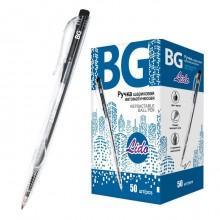"""Ручка шариковая автоматическая """"BG Lido"""", 0,7мм, чёрная, прозрачный корпус"""