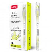 """Текстовыделитель """"Hatber Hi-Lens"""", 1/5мм, двухсторонний, жёлтый"""