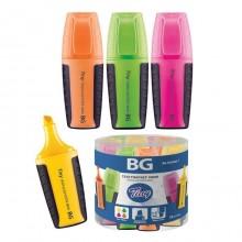 """Текстовыделитель """"BG Tiny Mini"""", 1-5мм, длина 7см, клиновидный наконечник, ассорти"""
