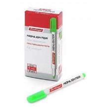 Текстовыделитель Berlingo Slim флуоресцентные чернила круглый корпус клиновидный пишущий узел Зелены