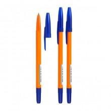 """Ручка шариковая """"Стамм"""", 1мм, синяя, серия """"511"""", оранжевый корпус"""