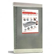 Комплект металлических оцинкованных полок для стеллажей, 1000x500мм, 2 полки в комплекте