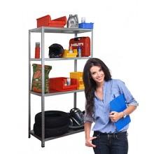 Стеллаж металлический оцинкованный для дома и офиса, 2000х1000х600мм, 4 полки, Стандарт