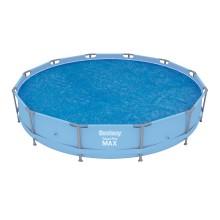 Тент солнечный для бассейнов диаметром 366-396 см, BESTWAY, 58242, PE, Синий, Сумка