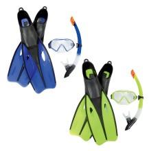 Набор для плавания Dream Diver Set 12+, BESTWAY, 25022, В наборе: маска для плавания  плюс трубка для плавания(шноркель) плюс ласты (40-42 размер), Latex free, Цвет в ассортименте, Сетка