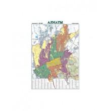 Карта план-схема города Алматы 70х100 ламинированная