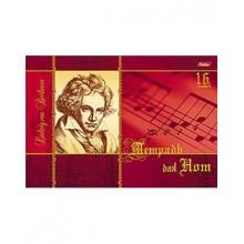 Тетрадь для Нот 16л А4 205х290мм альбом на скрепке -Бетховен-