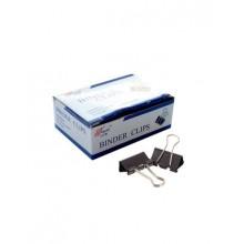 """Зажимы для бумаг """"Blinder Clips"""", 19мм, чёрные, 12шт в картонной упаковке"""