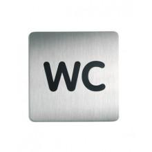 """Пиктограмма """"WC"""" 150х150мм Durable серебристая"""