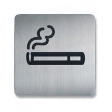 """Пиктограмма """"Курить разрешено"""" 150х150мм Durable серебристая"""