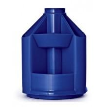"""Настольный пластиковый органайзер """"Стамм"""", серия """"Mini Desk"""", без наполнения, синий"""