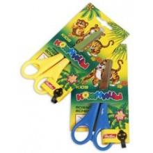 Ножницы детские Hatber 13,5 см, нерж. ст. серия -Джунгли- (упаковка европодвес)