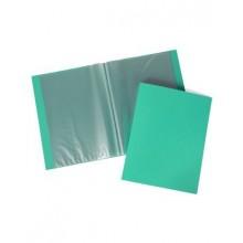 Папка Пластиковая Hatber 10 вкладышей А4ф корешок 9 мм LINE Зеленая