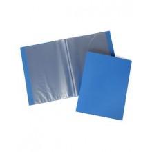 Папка Пластиковая Hatber 10 вкладышей А4ф корешок 9 мм LINE Синяя