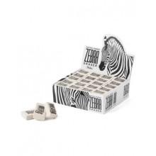 Ластик из натурального каучука Hatber Zebra 26х18х8 мм в картонной Дисплей-витрине