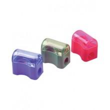 Точилка пластиковая Centrum с одним отверстием и прозрачным контейнером, фигурная, цвет корпуса ассо