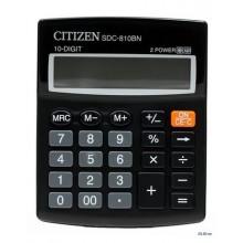 Калькулятор настольный Citizen SDC-810BN 10-разрядный 124x102x25мм, черный