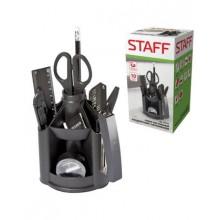 """Канцелярский набор """"Staff Minidesk"""", 10 предметов, вращающийся, чёрный"""