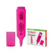 """Текстовыделитель """"Staff"""", 1-5мм, скошенный наконечник, розовый, 12 штук в упаковке"""