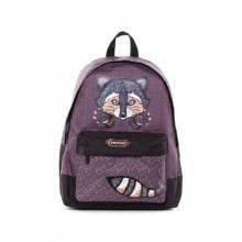 """Рюкзак """"Hatber"""", 30x41x13см, полиэстер, 1 отделение, 1 карман, серия """"Basic - Raccoon"""""""