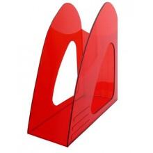 """Лоток пластиковый вертикальный для документов А4 """"Hatber"""", тонированный, красный"""
