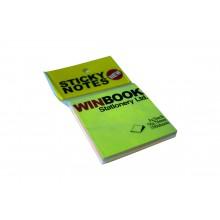 Стикеры Winbook, 76x76 мм, радуга, 100 листов в упаковке