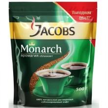 Кофе растворимый Jacobs Monarch (190г, пакет)